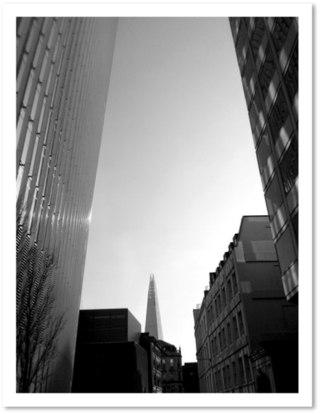 The London Shard from 20 Fenchurch Street, London