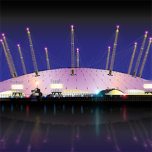 O2 Arena by Night